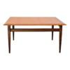 Vintage vierkante teak salontafel