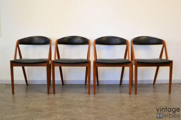 Danish Modern Kai Kristiansen Model #31 Dining Chairs - front