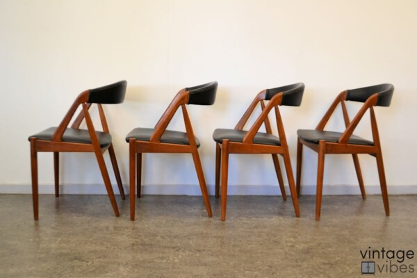 Danish Modern Kai Kristiansen Model #31 Dining Chairs - side