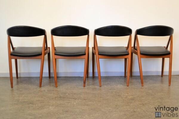 Danish Modern Kai Kristiansen Model #31 Dining Chairs - back