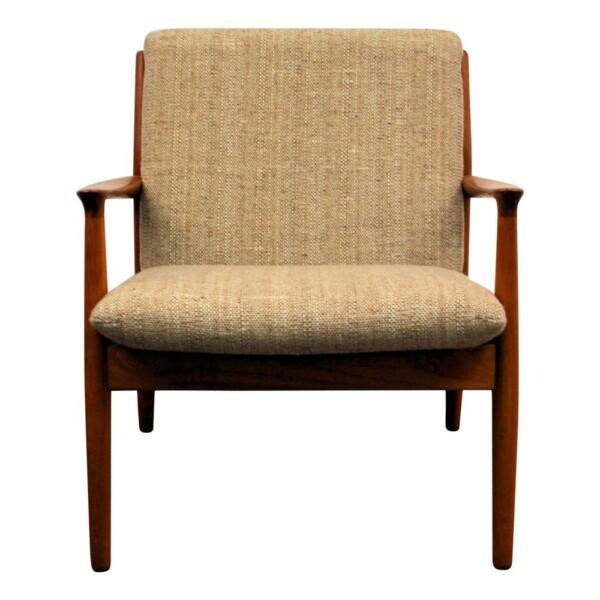 Vintage Grete Jalk teak fauteuil