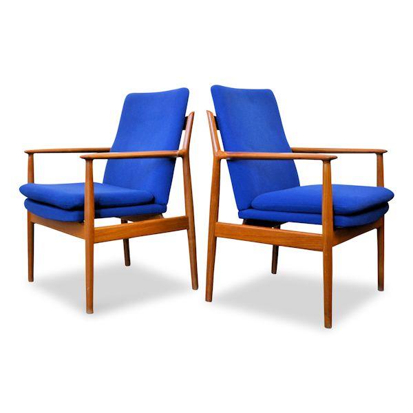 Arne Vodder teak fauteuils model 341