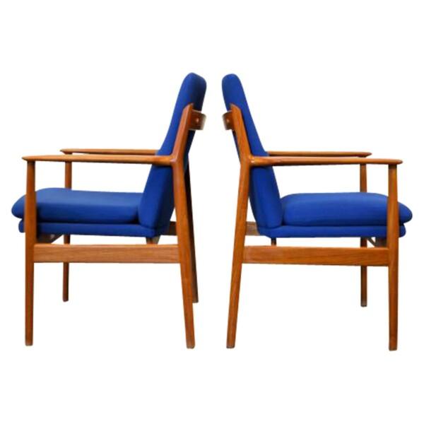 Arne Vodder, model 341 teak stoelen