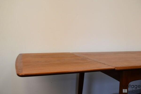 Danish Modern Teak Dining Table - detail extension