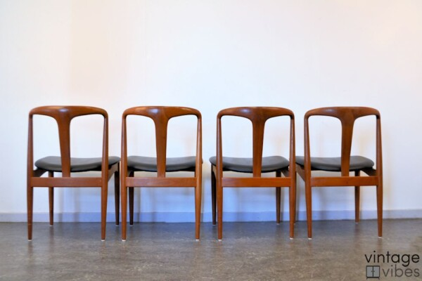 Danish Modern Johannes Andersen Dining Chairs - back