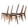 """Vintage stoelen van Niels Koefoed, type """"Eva"""""""
