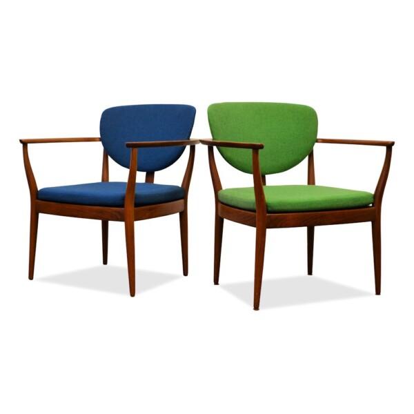 Deense teak fauteuils