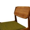 Erik Buch Oak and Ratan Dining Chairs - side