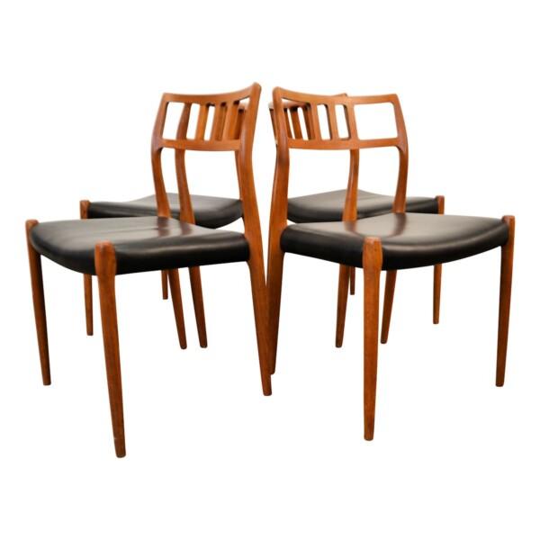Vintage teak Niels O. Møller, mod.79 stoelen