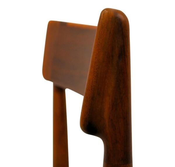 Rosewood Henri Rosengren Dining Chairs - detail backrest