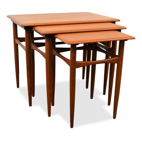 Danish modern Set of 3 Side Tables by Kai Kristiansen - side