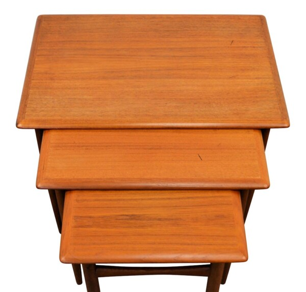 Danish modern Set of 3 Side Tables by Kai Kristiansen - top