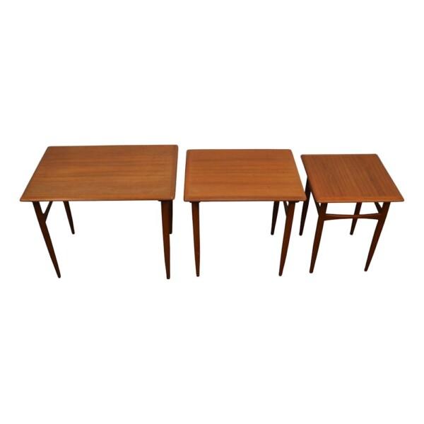 Danish modern Set of 3 Side Tables by Kai Kristiansen