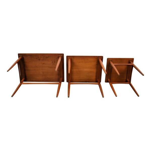 Danish modern Set of 3 Side Tables by Kai Kristiansen - bottom