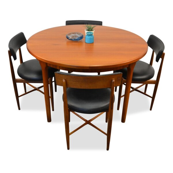 Vintage Midcentury Modern G-Plan Dining Table and Chairs