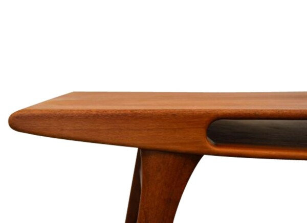 Vintage Deens design teak salontafel (detail)