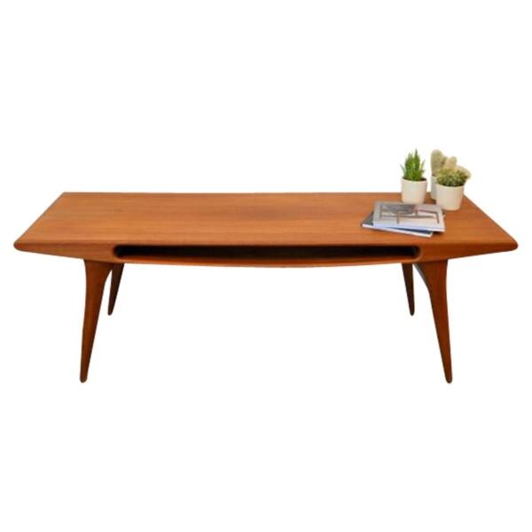 Vintage Deens design teak salontafel