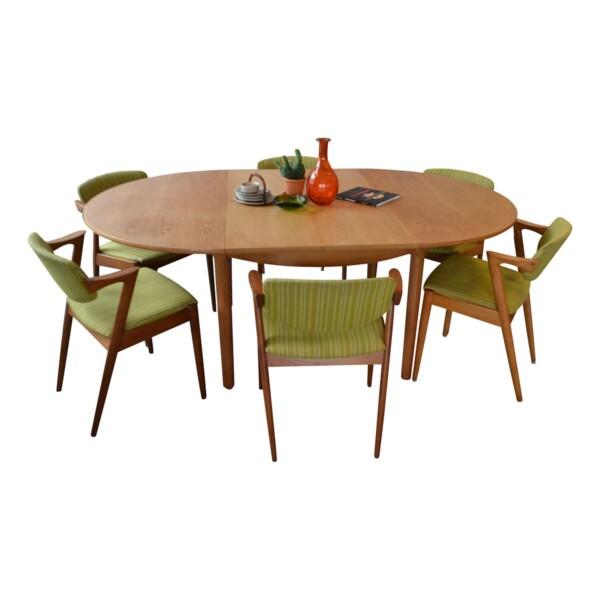 Vintage Deens design eiken verlengbare eettafel (ter inspiratie)