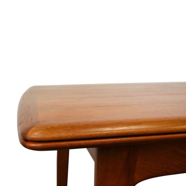 Vintage Danish Modern Svend Aage Madsen Dining Table - detail corner
