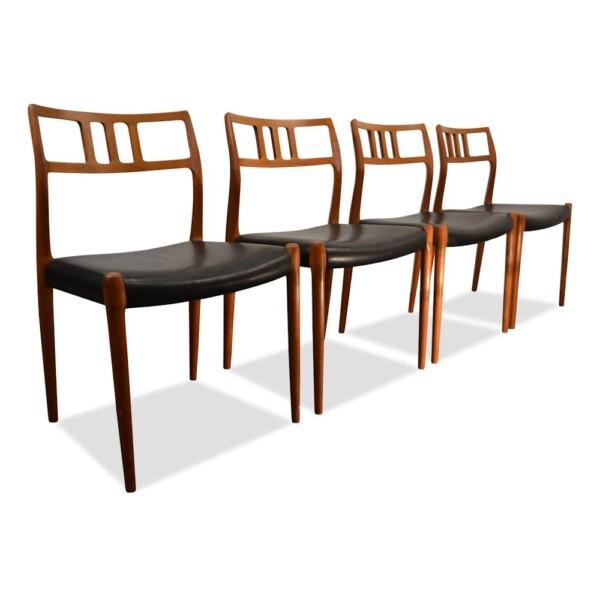 Vintage Niels O. Moller, no 79 stoelen