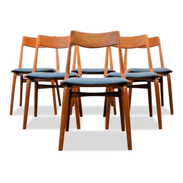 Vintage Model no. 370 Boomerang Alfred Christensen Dining Chairs - front