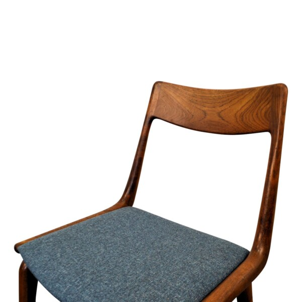 Vintage Model no. 370 Boomerang Alfred Christensen Dining Chairs - detail backrest and seat