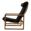 Vintage Børge Mogensen eiken fauteuil - zijkant
