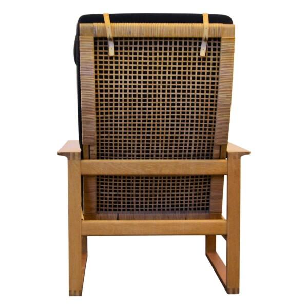 Vintage Børge Mogensen eiken fauteuil - achterzijde