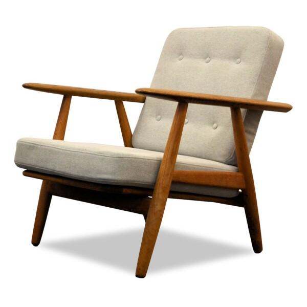 Vintage Hans J. Wegner GE-240 eiken fauteuil