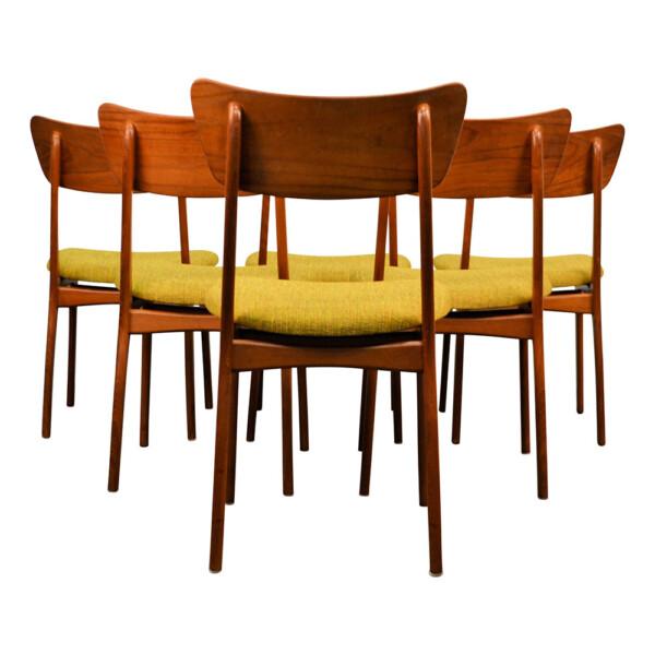 Vintage Deense teak stoelen