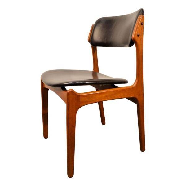 Vintage Teak Dining Chairs by Erik Buck - side