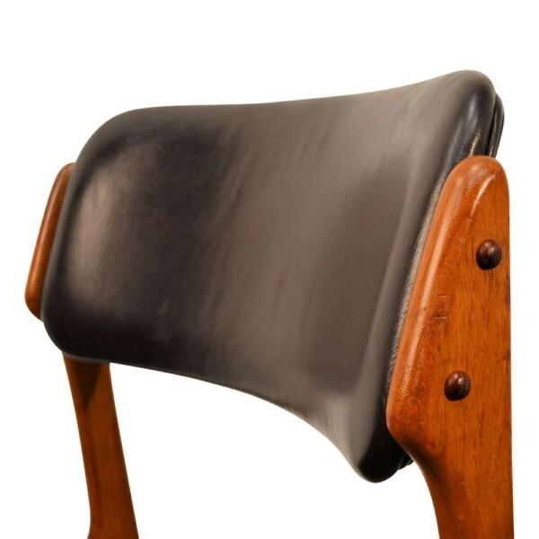 Vintage Teak Dining Chairs by Erik Buck - backrest