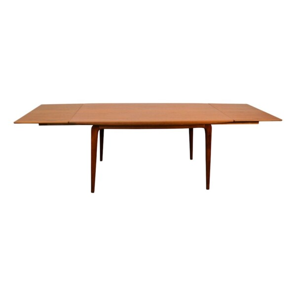 Vintage Model #371 Boomerang Alfred Christensen Dining Table - front and top