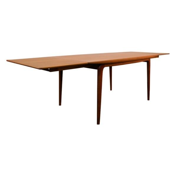 Vintage Model #371 Boomerang Alfred Christensen Dining Table - side extended