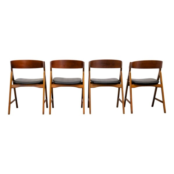 Vintage Deens design Henning Kjaernulf stoelen