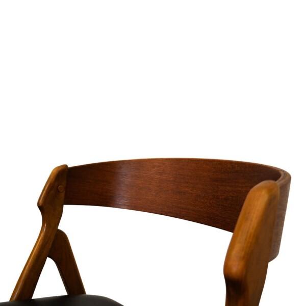 Vintage Henning Kjaernulf Model 71 Dining Chairs - detail backrest