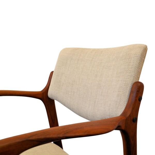 Finn Haugaard teak armleuning stoel (detail)