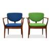 Vintage Deens design teak fauteuils