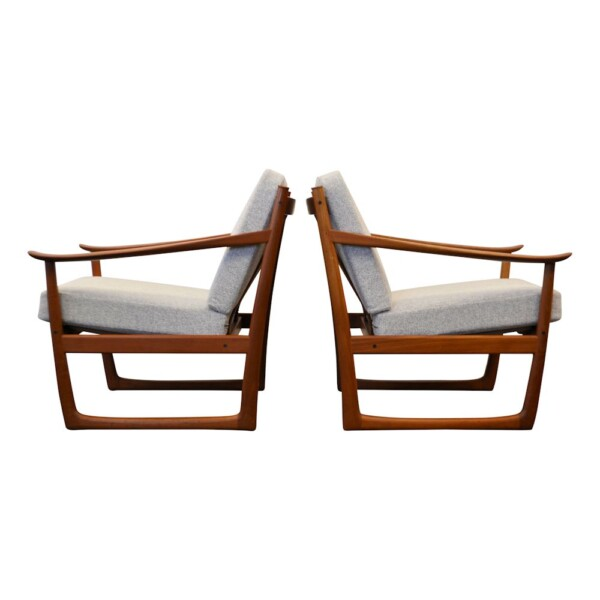 Peter Hvidt & Orla Mølgaard teak fauteuils (2)