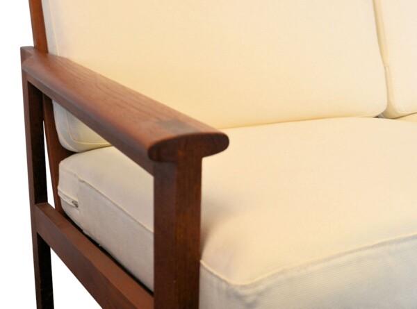 Vintage Illum Wikkelso Three-seater Sofa model Capella - armrest