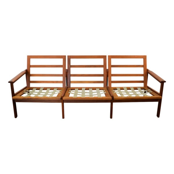 Vintage Illum Wikkelso Three-seater Sofa model Capella - frame