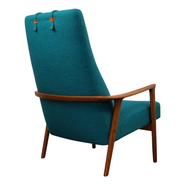 Vintage Teak Lounge Chair by Brödera Andersson - back