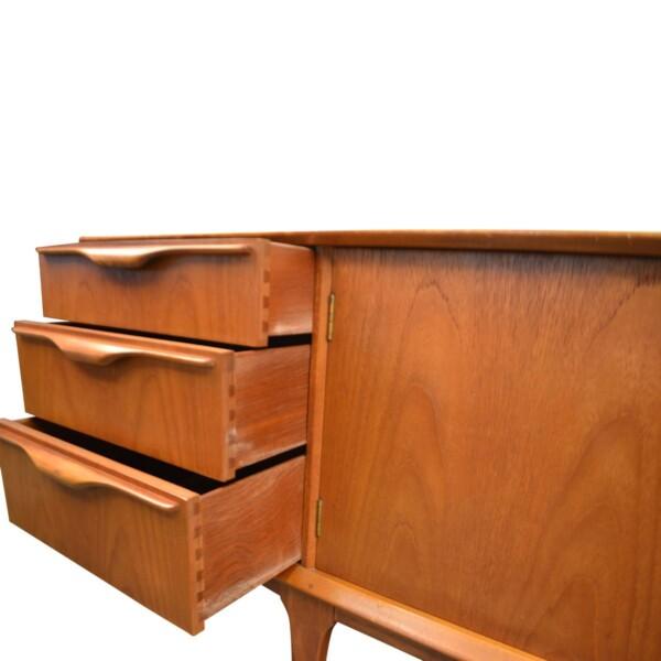 Vintage Teak McIntosh& Co Style Teak Sideboard - drawers open