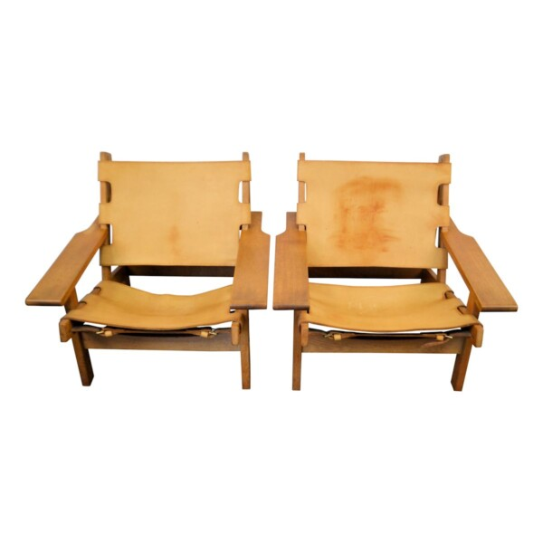 Vintage Lounge Chairs by Erling Jessen - front