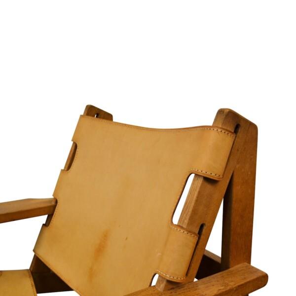 Vintage Erling Jessen eiken/leren fauteuils (2)