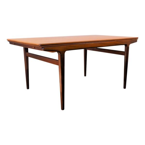 Vintage Teak Dining Table by Johannes Andersen - side