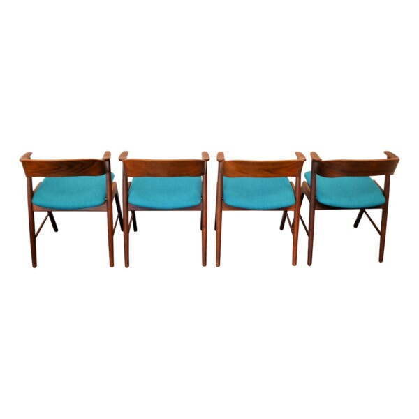 Vintage Kai Kristiansen teak stoelen (4)