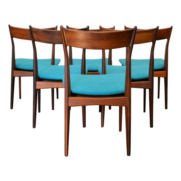 Vintage Rosewood Dining Chairs - back