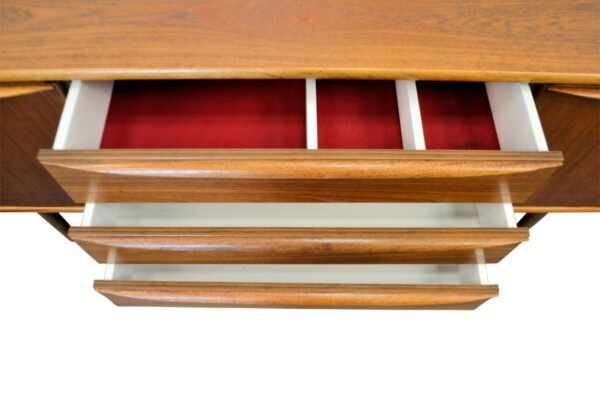 Vintage Teak Sideboard - drawers open