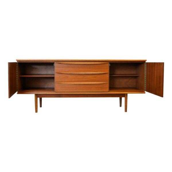 Vintage Teak Sideboard - open
